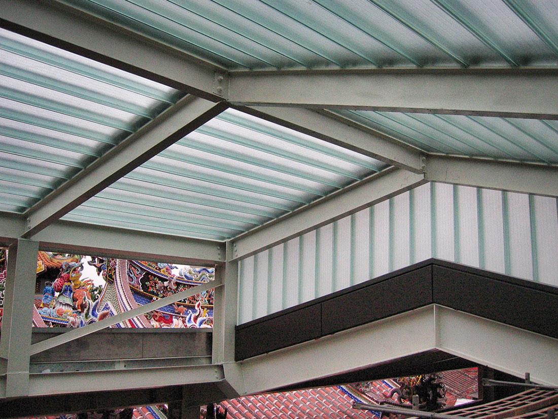 採光屋頂, 玻璃系統, 屋牆面彩色鋼板1