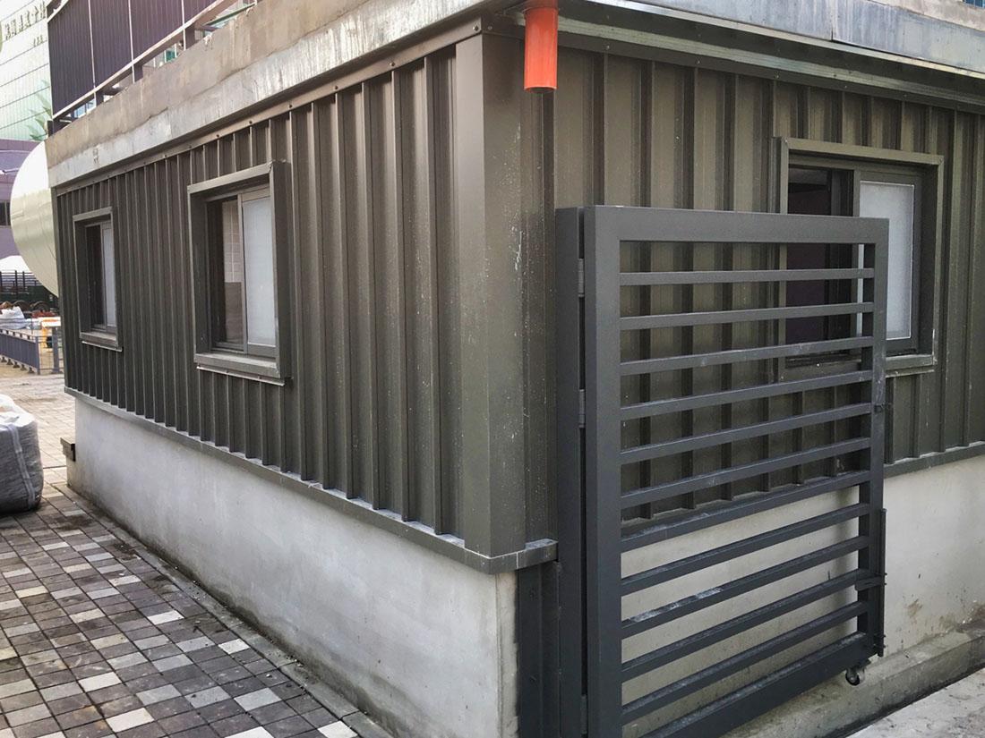 屋牆面彩色鋼板, 彩色鋼板斷面1