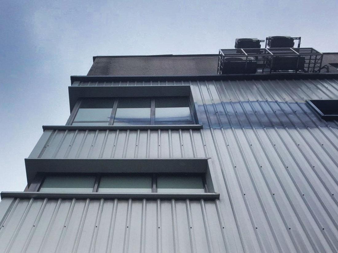 烤漆鋼板, 屋牆面彩色鋼板0